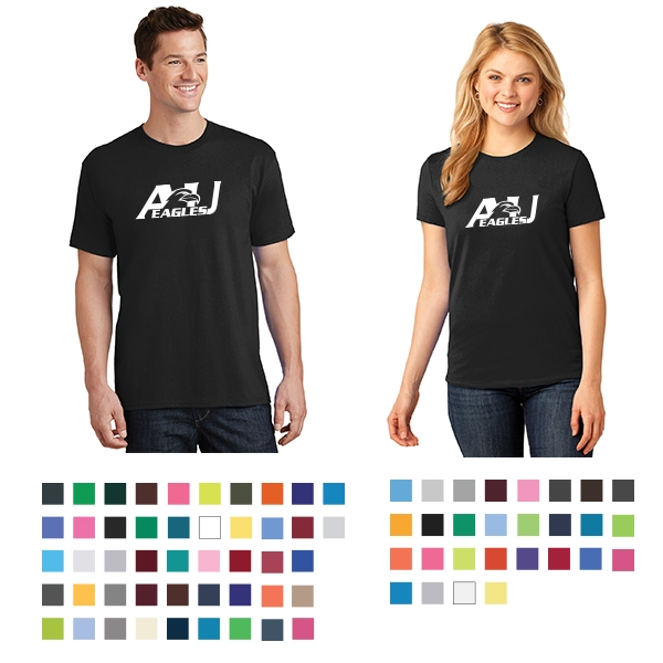 Medium Port /& Company/® 5.4-oz 100/% Cotton T-Shirt Olive