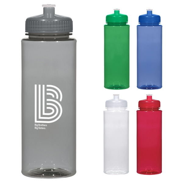 Cleaning Sports Bottle Lids: 32oz Hydroclean Sports Bottle With Push/Pull Lid