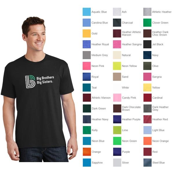 Light Blue 5.4-oz 100/% Cotton T-Shirt Large Port /& Company/®