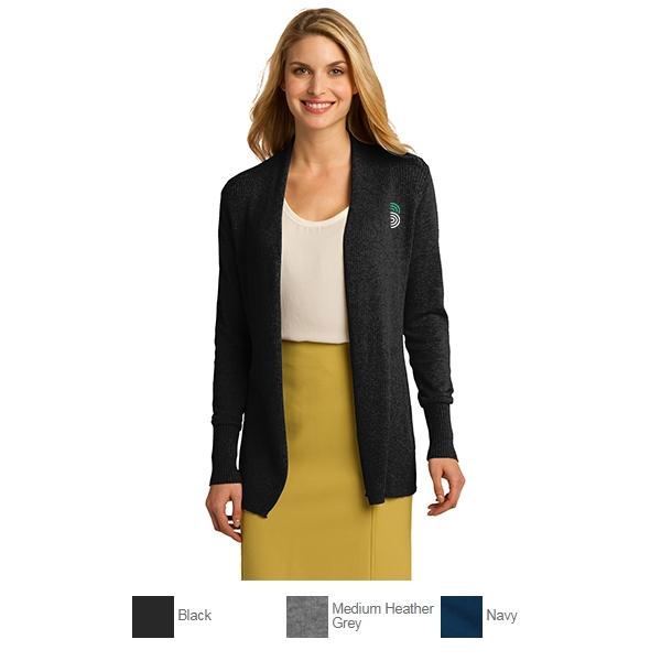 0b4243d7e Port Authority Ladies Open Front Cardigan Sweater