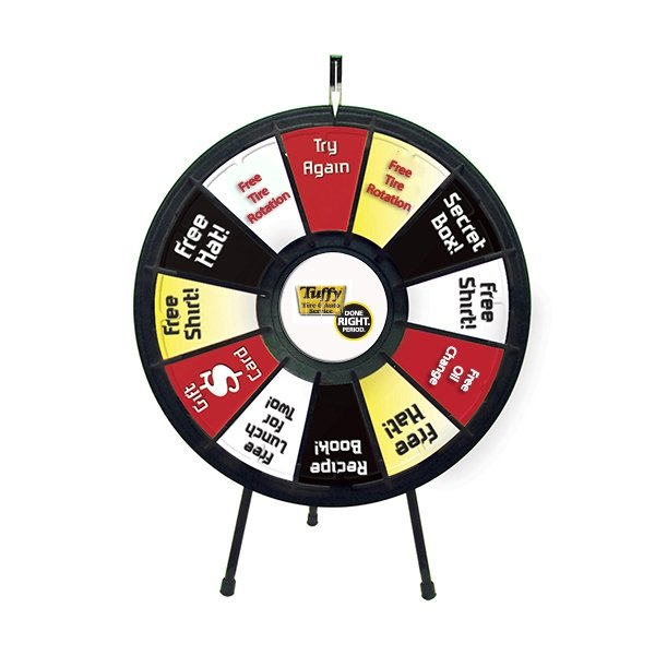 spin ''n'' win prize wheel kit, Powerpoint templates