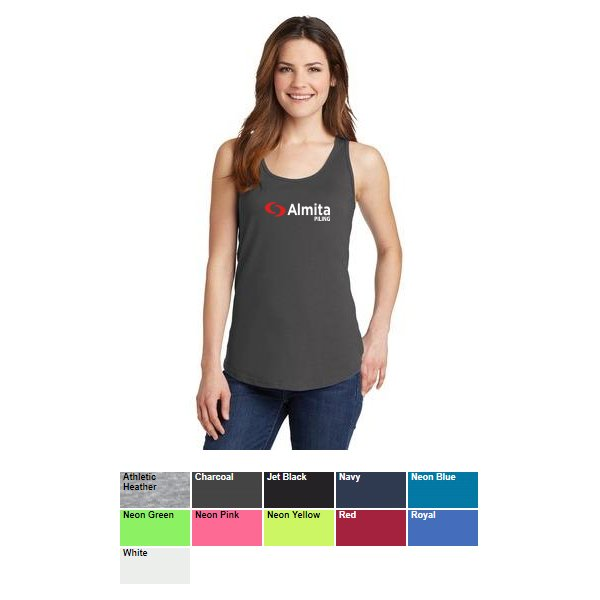189140a6a2d48 Port and Company Ladies Core Cotton Tank Top