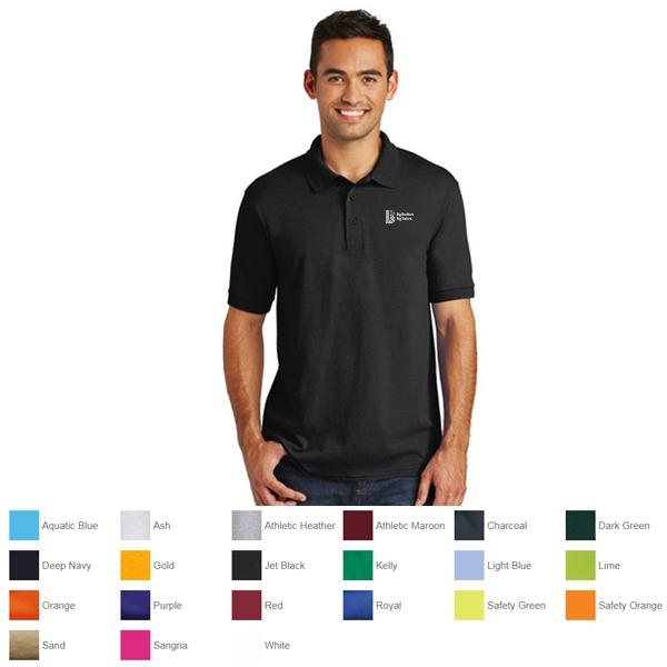 premium selection fd16e 0309c Port and Company Core Blend Jersey Knit Polo