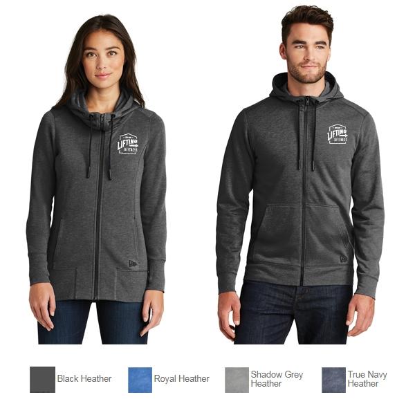 a3acf88be43 New Era® Tri-Blend Fleece Full-Zip Hoodie