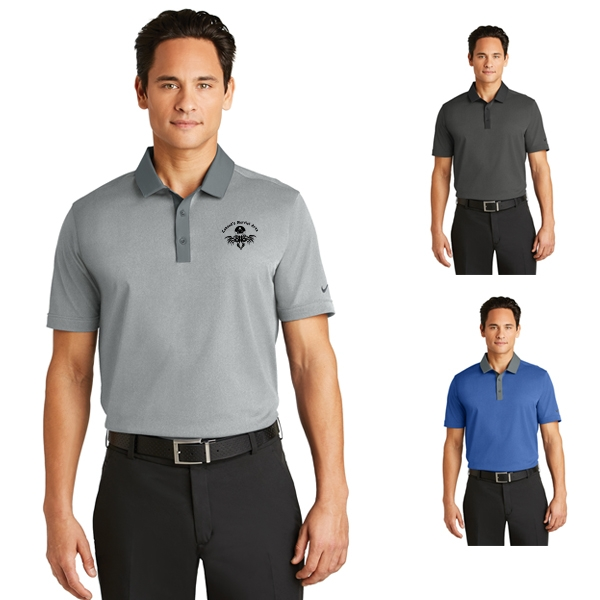 731ade1b42b7 Nike Golf Dri-Fit Heather Pique Modern Fit Polo