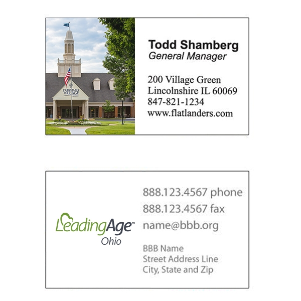 2 sided full color glossy business card reheart Choice Image